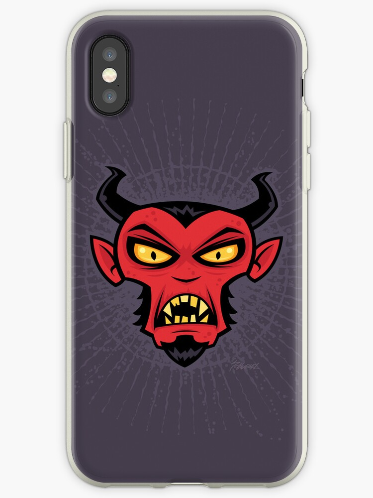 Mad Devil iPhone Case by fizzgig