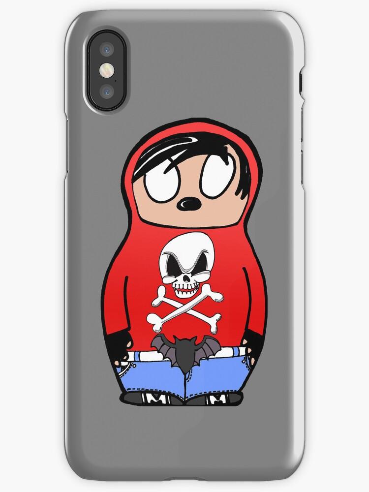 Emo Babushka iPhone Case by edzemo