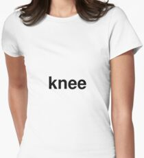 knee Women's Fitted T-Shirt