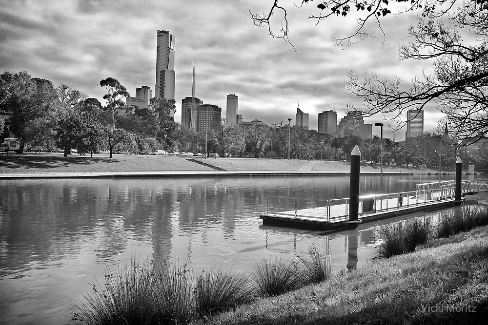 View of Melbourne from the Yarra by Vicki Moritz