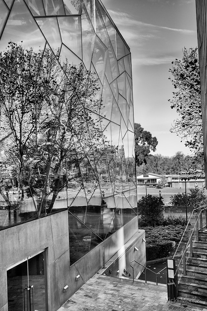 View to the Yarra from Federation square by Vicki Moritz