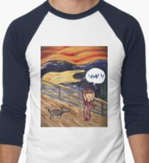 The Scream- Arabic Version Men's Baseball ¾ T-Shirt