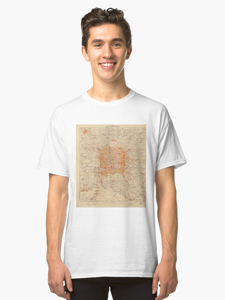 Alternate view of Vintage Map of Beijing China (1907) Classic T-Shirt