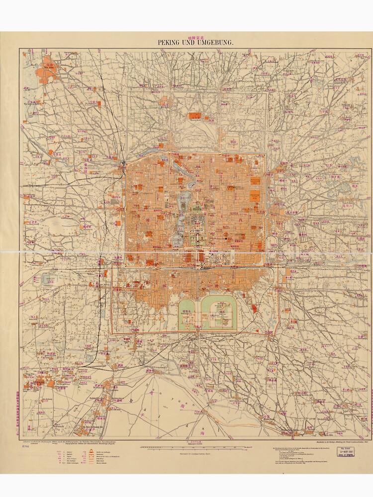 Vintage Map of Beijing China (1907) by BravuraMedia