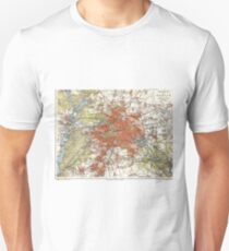 Vintage Map of Berlin Germany (1905) T-Shirt