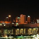 Knoxville skyline at night panoramic by dc witmer