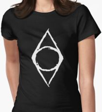 Thieves Guild Shadowmark (white) Women's Fitted T-Shirt