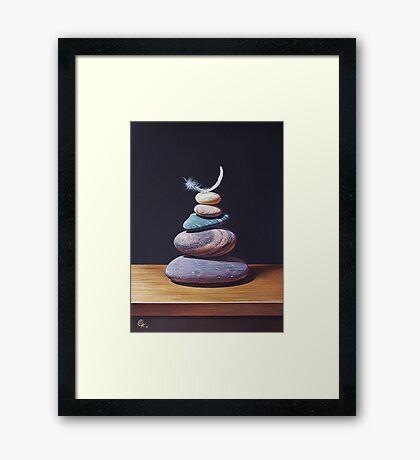 """Stone tower 1"" Framed Print"