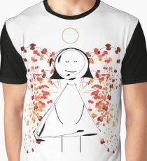 Floral Angel Graphic T-Shirt