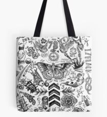 One Direction tattoos Tote Bag