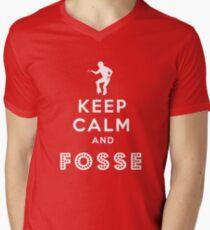 Keep calm and Fosse Men's V-Neck T-Shirt