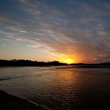 Lake Currimundi Sunset by lucadou