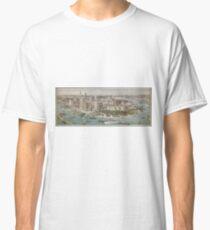 Camiseta clásica Vintage Pictorial Map of New York City (1914)