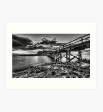 Bare Island - Black and White #1 Art Print