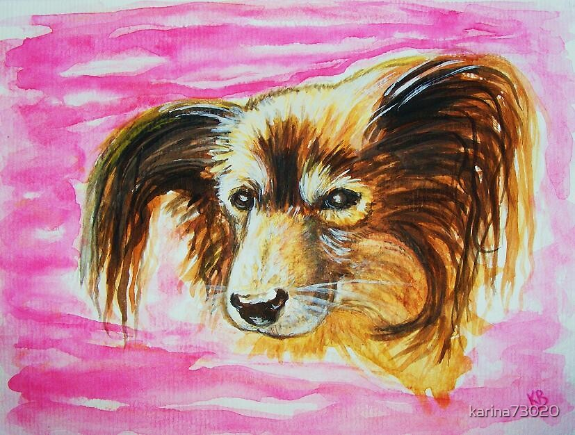 Portrait of My little Mimie... watercolors by karina73020