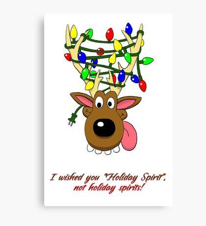 Holiday Spirit Card Canvas Print