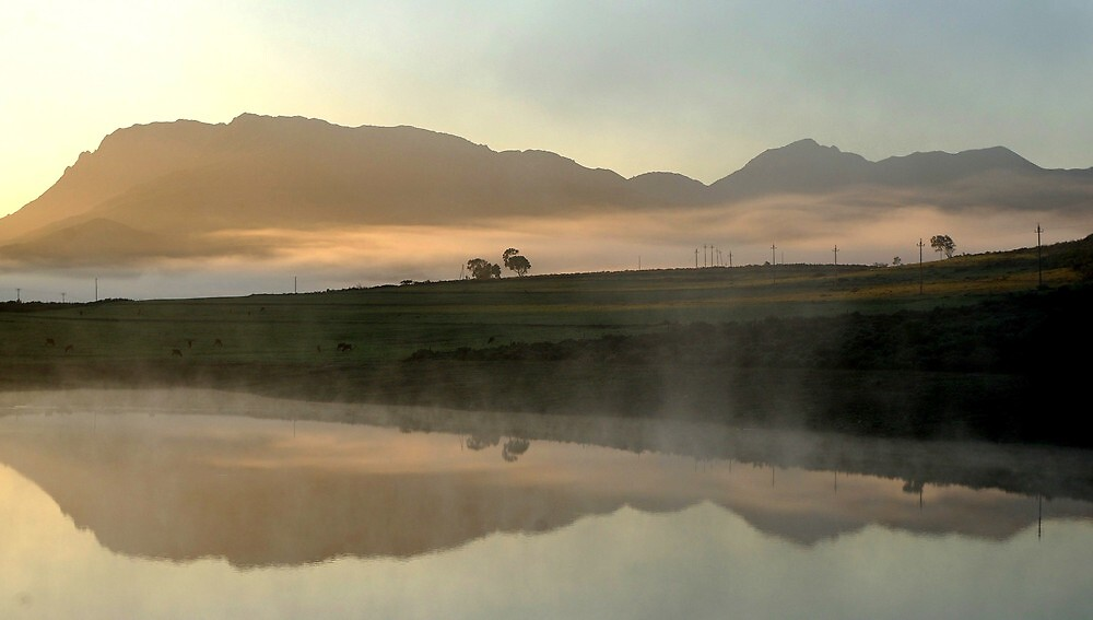 morning on the dam by Martina  Stoecker