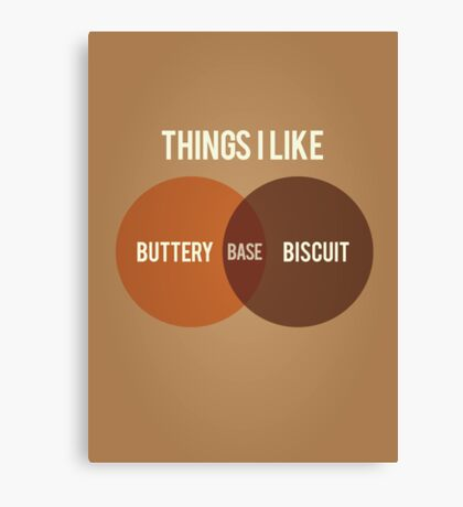 Buttery Biscuit Base Canvas Print