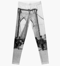 Legging Vintage Brooklyn Bridge Crossing Photograph (1898)