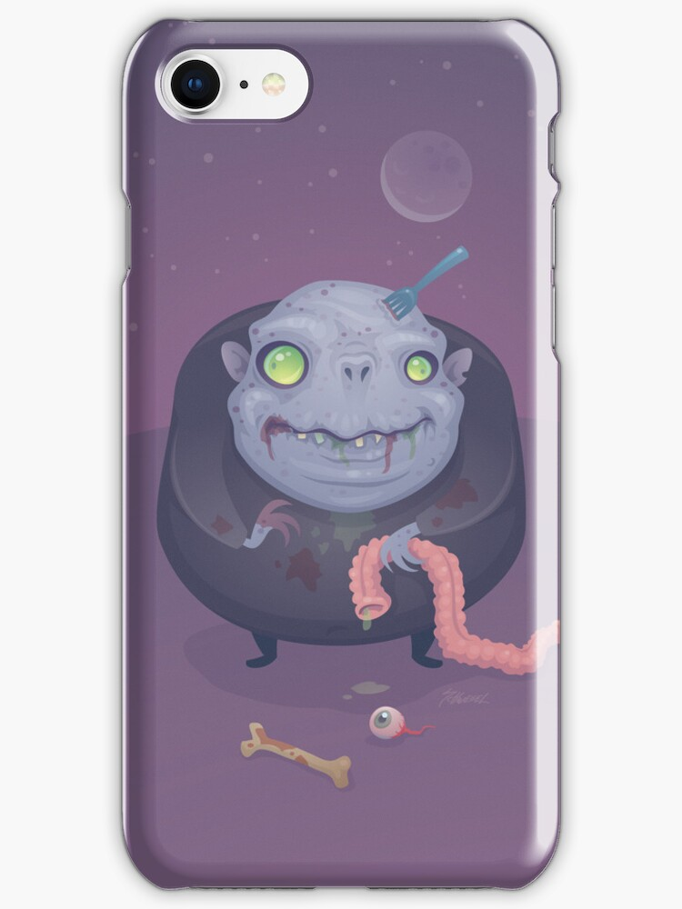 Blob Zombie iPhone Case by fizzgig