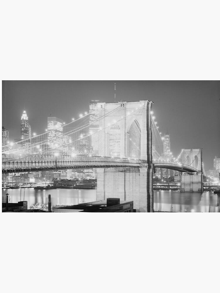 Brooklyn Bridge Black & White de BravuraMedia