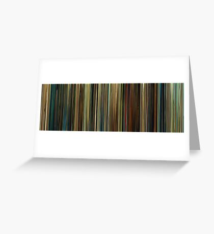 Moviebarcode: Wild Grass / Les herbes folles (2009) Greeting Card