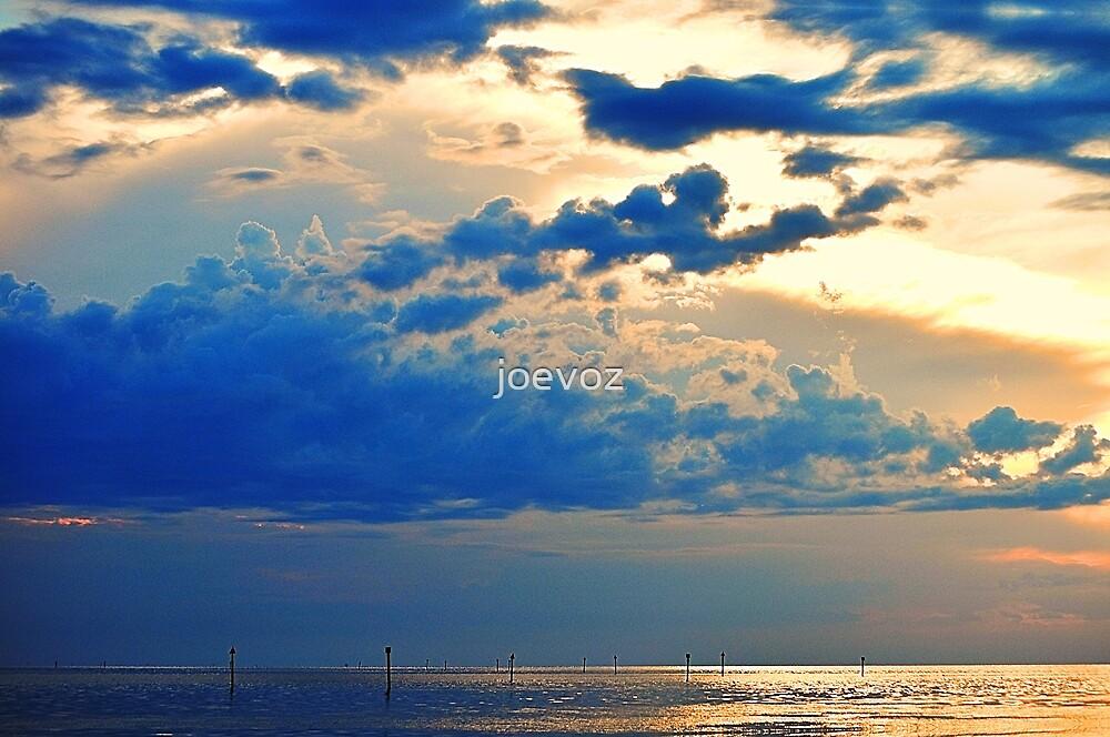 Sunset on Bayport by joevoz