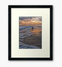 Exploring the Beach Framed Print