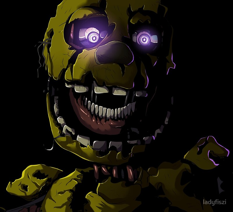 """Creepy Springtrap Design (FNAF)"" Art Prints By Ladyfiszi"