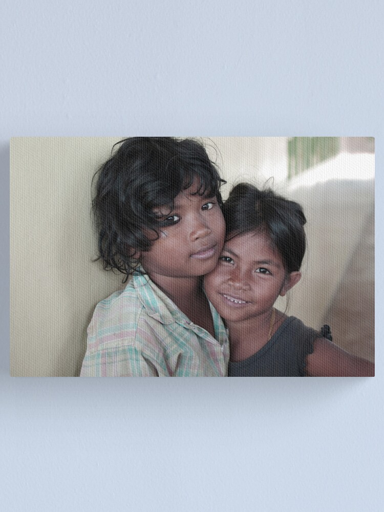 Alternate view of cambodian battambang street kids Canvas Print
