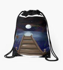 The midnight Pier Drawstring Bag