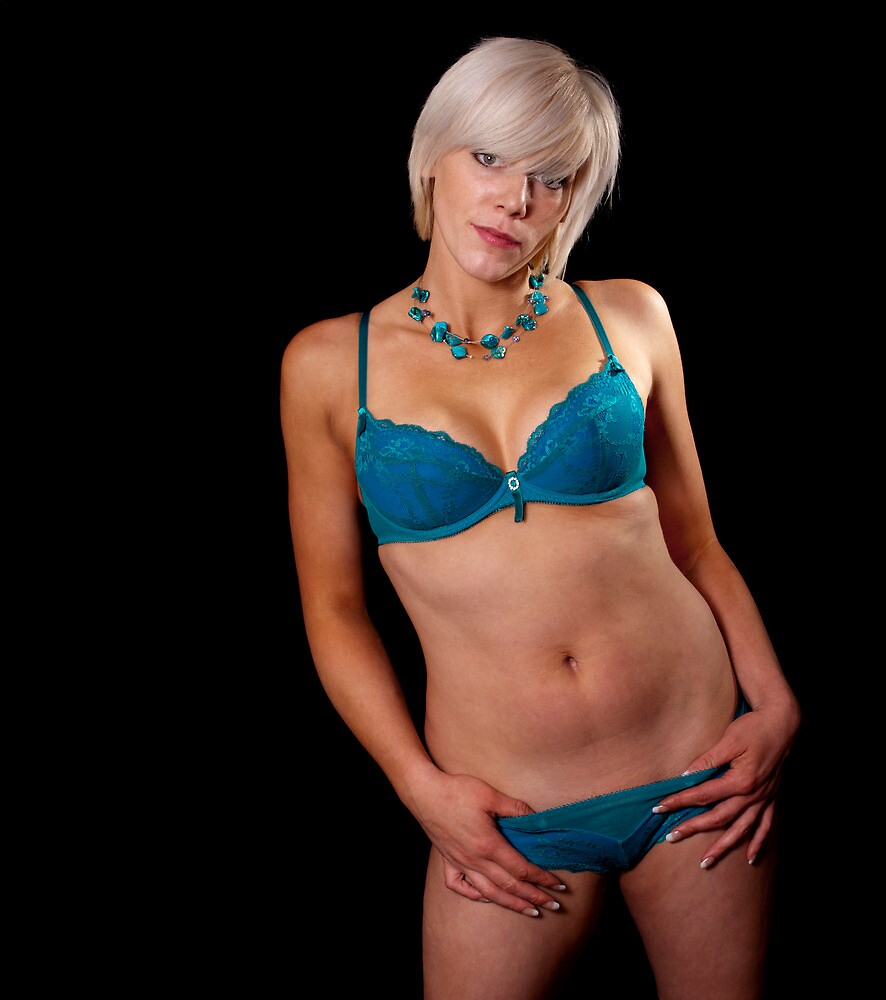 Tracey - Turquoise Lingerie by Gary Freeman