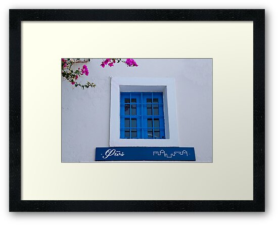 Blue Grilled Window by phil decocco