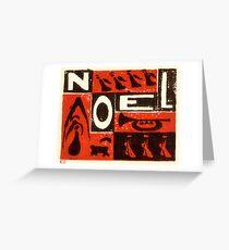 Noel Red Greeting Card