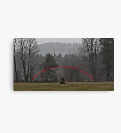 A Merry Christmas to Everyone at RedBubble Canvas Print