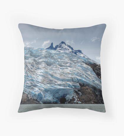 Poured Ice Throw Pillow