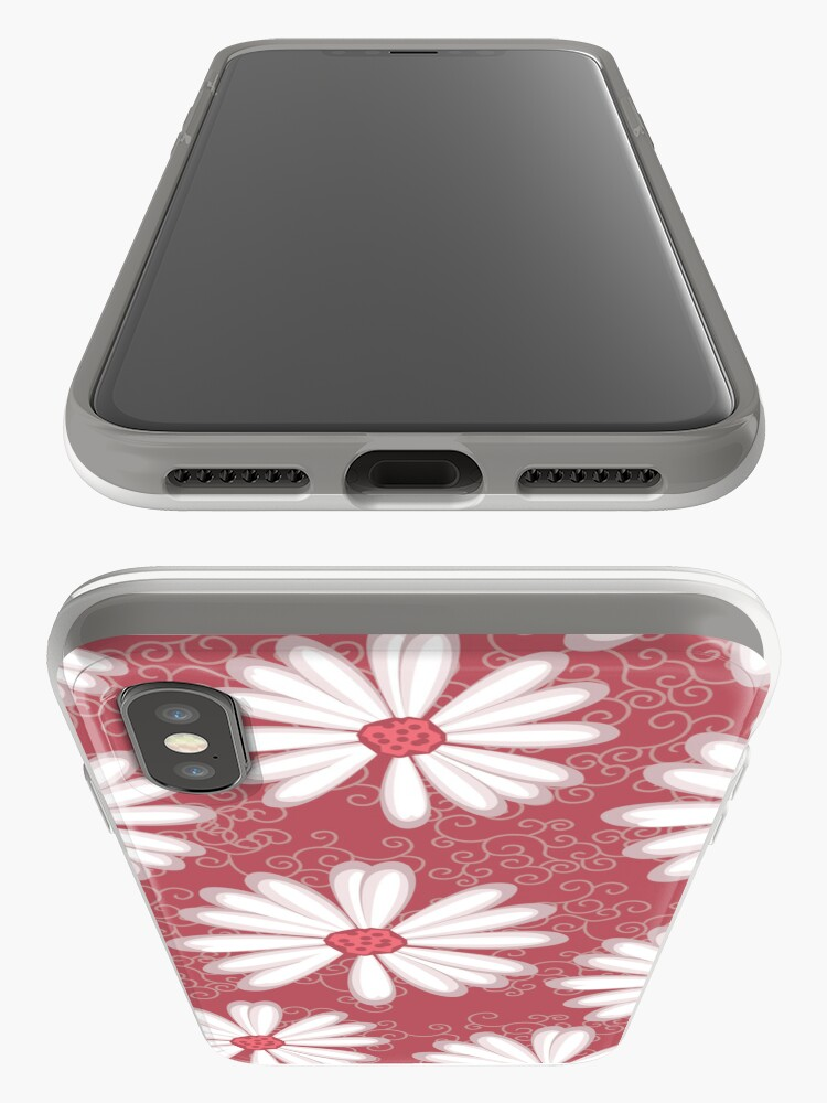 Alternate view of Soft Pastel Pink Daisy Flower Tribal Tattoo Design iPhone Case & Cover