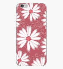 Soft Pastel Pink Daisy Flower Tribal Tattoo Design iPhone-Hülle & Cover