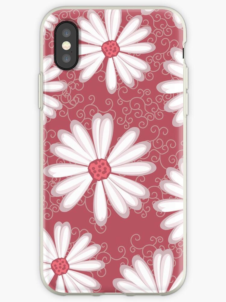 Soft Pastel Pink Daisy Flower Tribal Tattoo Design by rozine