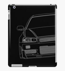 R34 Umriss - weiß iPad-Hülle & Klebefolie