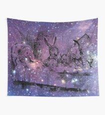 Mad Hatters Tea Party In Space Wall Tapestry