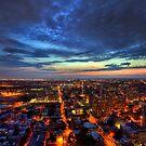 A City Ablaze - Jersey City, New Jersey by Ben Prewett