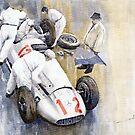 Sports Cars from Mercedes Benz before 2 World War by www.shevchukart.com by Yuriy Shevchuk