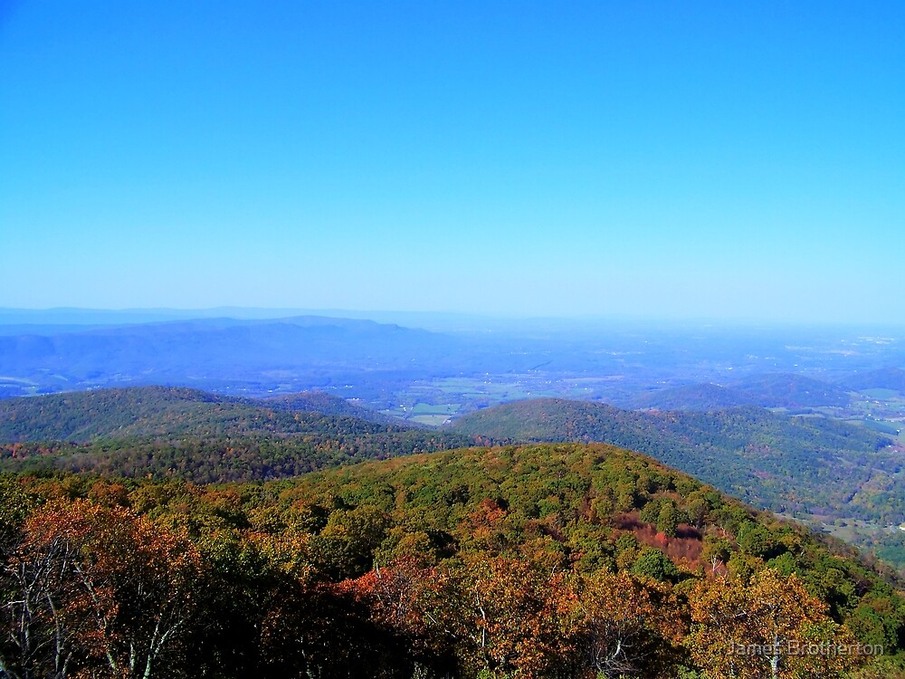 View From Skyline Drive by James Brotherton