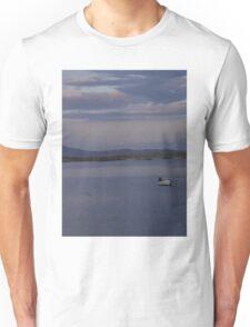 White Boat  Sunset- Burtonport - Donegal -  Ireland Unisex T-Shirt