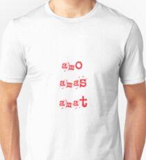 amo,amas,amat Unisex T-Shirt