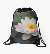 Peaceful Waterlily Drawstring Bag