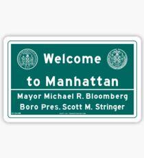 Welcome to Manhattan Sign Sticker