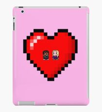 """""""Love in 8-bit"""": Britta and Troy (Style A) iPad Case/Skin"""