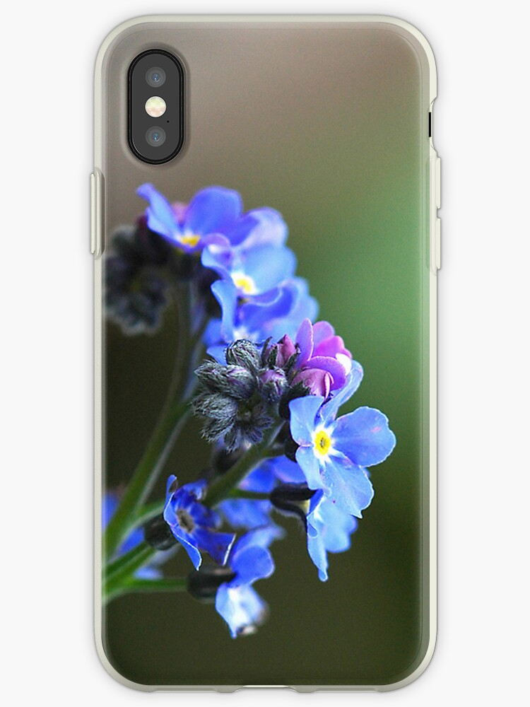 Forget-me-not iPhone case by Heather Thorsen